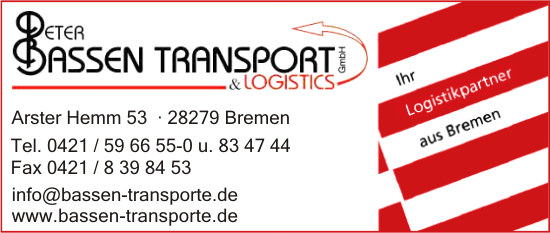 Bassen Transport & Logistics GmbH, Peter